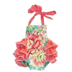 Other - Pretty multicolored ruffled girl's sun suit